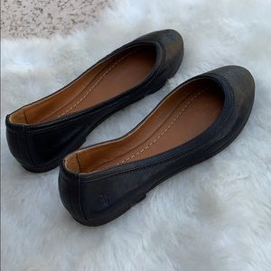 Frye Black Leather Flats